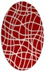 rug #218937 | oval red stripes rug