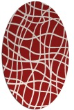rug #218945 | oval red check rug