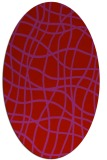 rug #218949 | oval red check rug