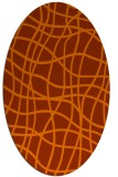 rug #218953 | oval red-orange check rug