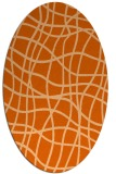 rug #218957 | oval red-orange check rug