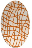 rug #218965 | oval red-orange check rug