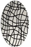 rug #218969 | oval white check rug