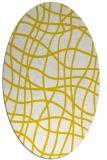 rug #218973 | oval white check rug