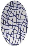 rug #218977 | oval blue check rug