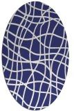 rug #218978 | oval check rug