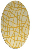 rug #218985 | oval yellow check rug