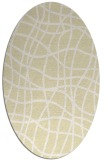 rug #218989 | oval yellow check rug