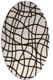 rug #218993   oval brown check rug