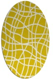rug #218997 | oval yellow check rug