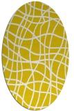 rug #218997 | oval yellow popular rug