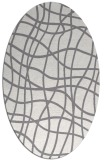 rug #219000   oval check rug