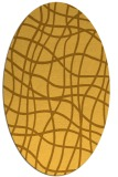rug #219001 | oval yellow check rug