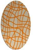 rug #219013 | oval orange check rug