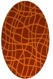 rug #219015 | oval check rug