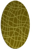 rug #219017 | oval light-green check rug
