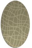 rug #219024   oval check rug