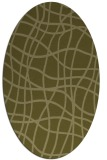 rug #219029 | oval light-green check rug