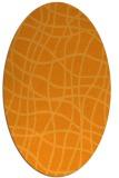 rug #219041 | oval light-orange check rug