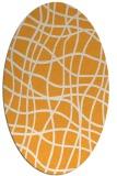 rug #219045 | oval light-orange stripes rug