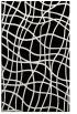 rug #219053 |  black check rug