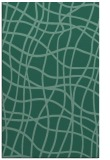 rug #219105    blue-green check rug