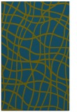 rug #219109 |  blue-green check rug