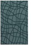 rug #219121    blue-green check rug