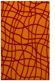rug #219237 |  red-orange check rug