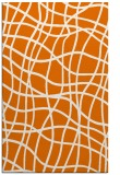 rug #219241 |  orange check rug