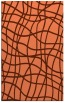 rug #219249 |  red-orange check rug