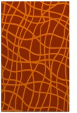 rug #219305 |  red-orange check rug