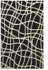 rug #219357 |  black check rug