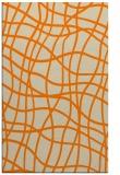 rug #219365 |  orange check rug