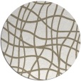 rug #219401 | round beige stripes rug