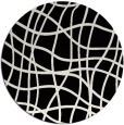 rug #219405 | round white stripes rug