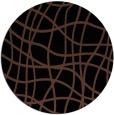 rug #219417 | round brown check rug