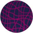 rug #219429 | round pink rug