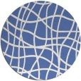 rug #219441 | round blue check rug
