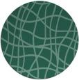rug #219457 | round blue-green check rug