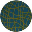 rug #219461 | round blue-green check rug
