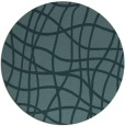 rug #219473 | round blue-green check rug