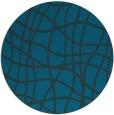 rug #219481 | round blue check rug