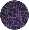 rug #219497 | round purple check rug