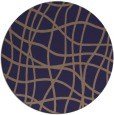 rug #219509 | round beige check rug