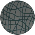 rug #219529 | round blue-green check rug