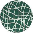 rug #219533 | round blue-green check rug
