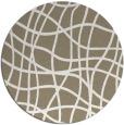 rug #219541 | round white check rug
