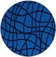 rug #219569 | round blue check rug