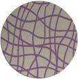 rug #219581 | round purple check rug